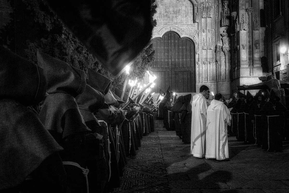 Hermandad Franciscana en la catedral de Salamanca