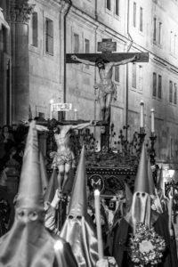 Cristo de la Vera Cruz a su paso por Salamanca