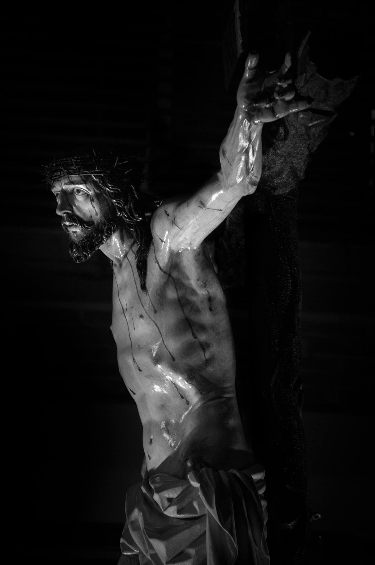 Detalle Jesús del Perdón con corona de espinas