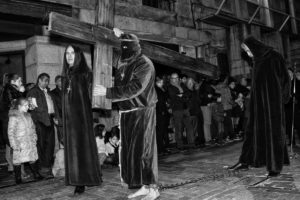 Detalle de la procesión del Santo Entierro por Salamanca