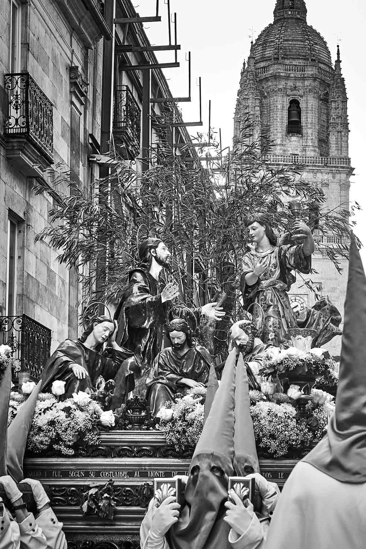 Detalle del Huerto de los Olivos en procesión