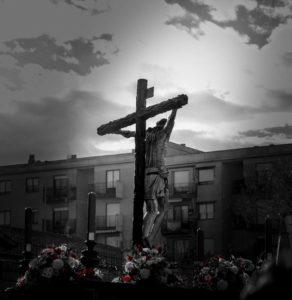 Paso de semana santa de la hermandad Jesús del Perdón en Salamanca