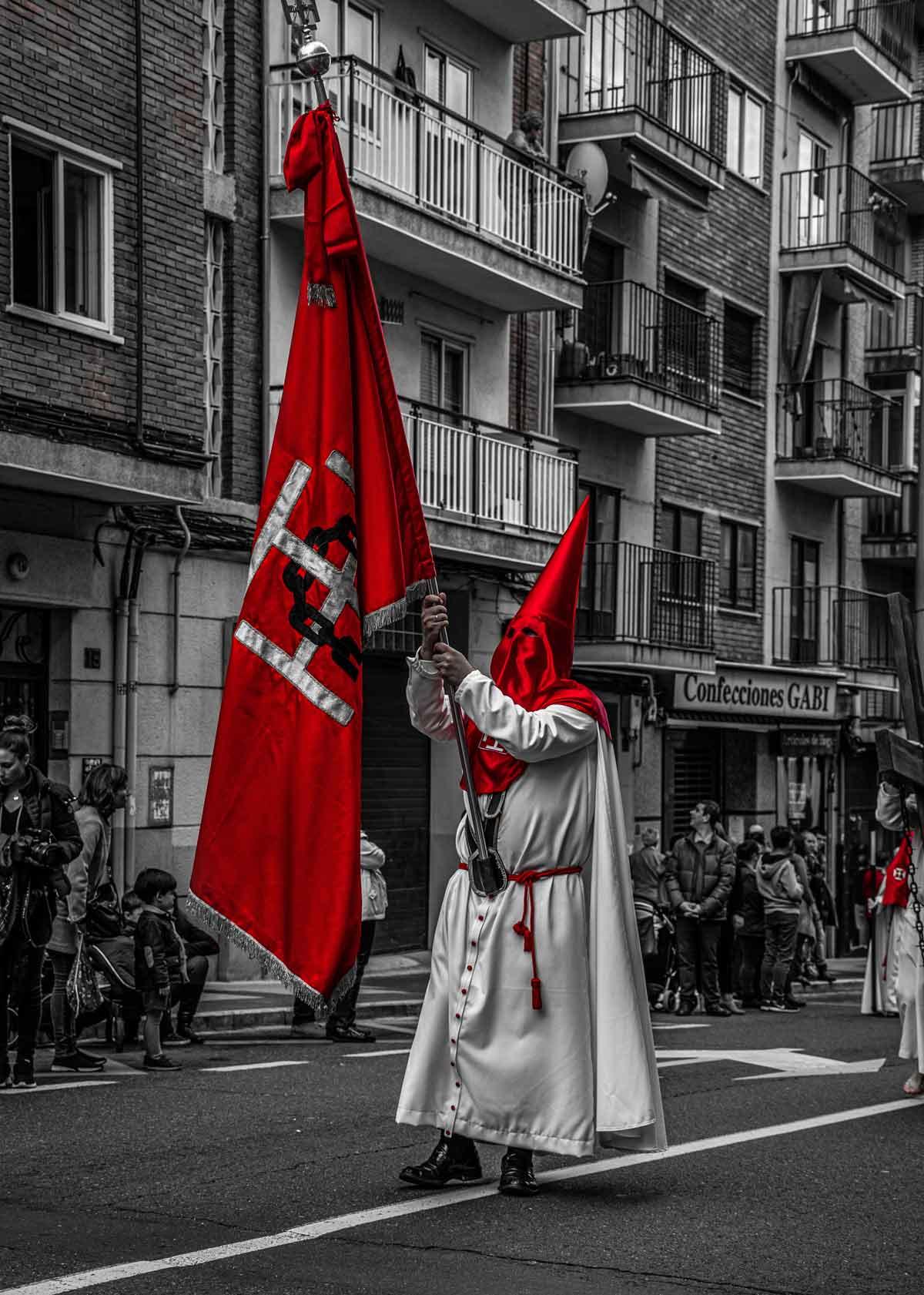 Procesión Jesús del Perdón y su bandera
