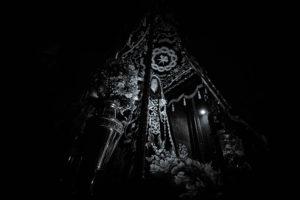 Virgen de la Soledad en procesión por Salamanca